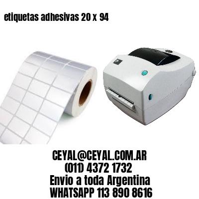 etiquetas adhesivas 20 x 94