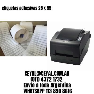 etiquetas adhesivas 25 x 55