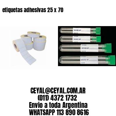 etiquetas adhesivas 25 x 70