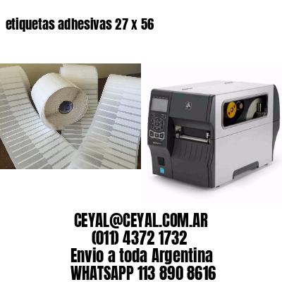 etiquetas adhesivas 27 x 56