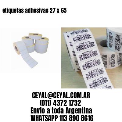 etiquetas adhesivas 27 x 65