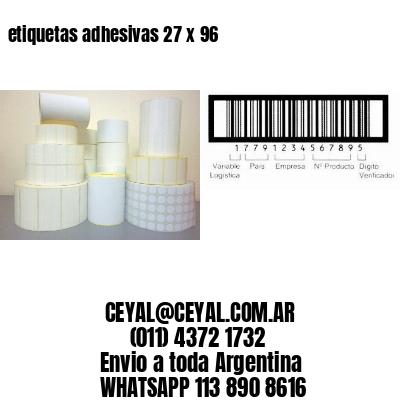 etiquetas adhesivas 27 x 96