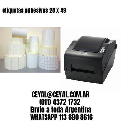 etiquetas adhesivas 28 x 49