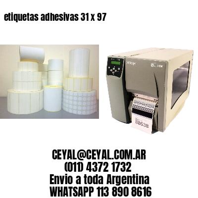 etiquetas adhesivas 31 x 97