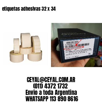 etiquetas adhesivas 32 x 34