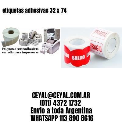 etiquetas adhesivas 32 x 74