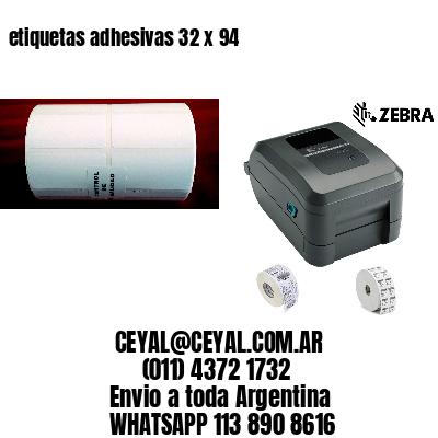 etiquetas adhesivas 32 x 94