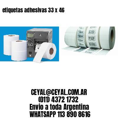 etiquetas adhesivas 33 x 46