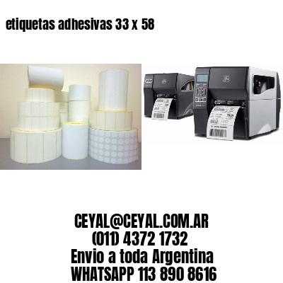 etiquetas adhesivas 33 x 58