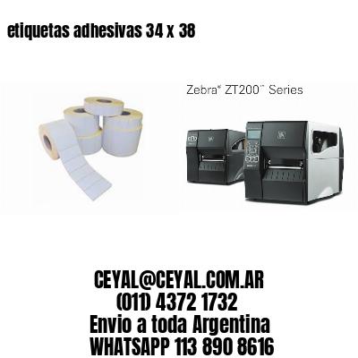 etiquetas adhesivas 34 x 38