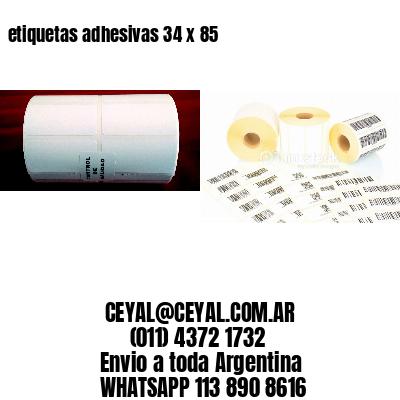 etiquetas adhesivas 34 x 85