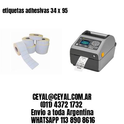 etiquetas adhesivas 34 x 95