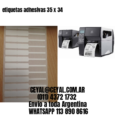 etiquetas adhesivas 35 x 34