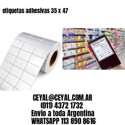etiquetas adhesivas 35 x 47
