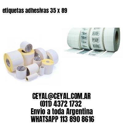 etiquetas adhesivas 35 x 89