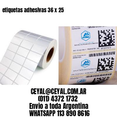 etiquetas adhesivas 36 x 25