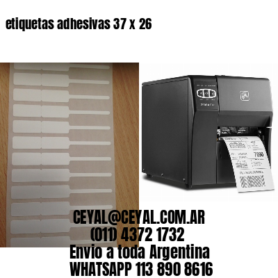 etiquetas adhesivas 37 x 26