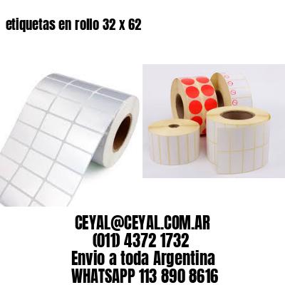 etiquetas en rollo 32 x 62