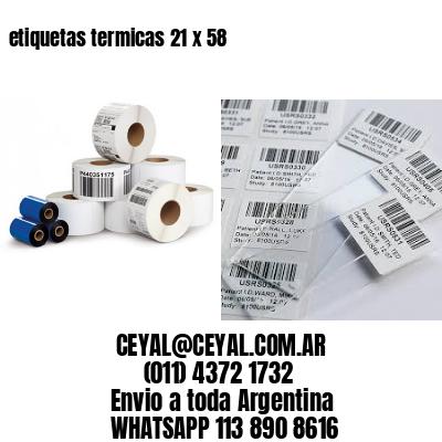 etiquetas termicas 21 x 58