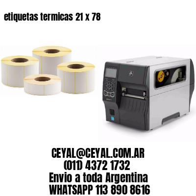etiquetas termicas 21 x 78