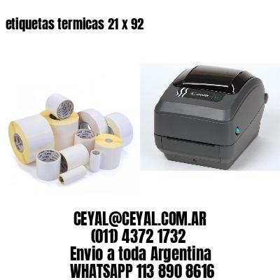 etiquetas termicas 21 x 92