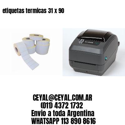 etiquetas termicas 31 x 90