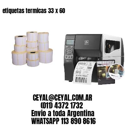 etiquetas termicas 33 x 60
