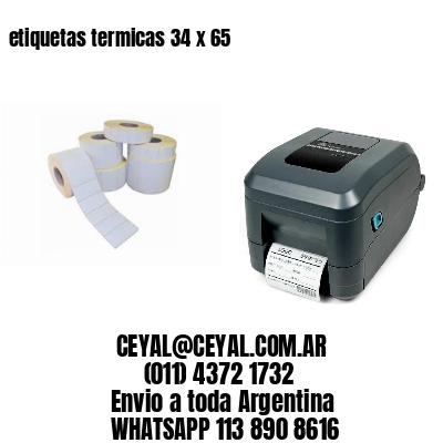 etiquetas termicas 34 x 65