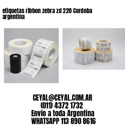 etiquetas ribbon zebra zd 220 Cordoba argentina