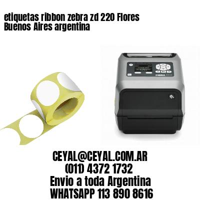 etiquetas ribbon zebra zd 220 Flores  Buenos Aires argentina