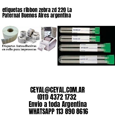 etiquetas ribbon zebra zd 220 La Paternal Buenos Aires argentina