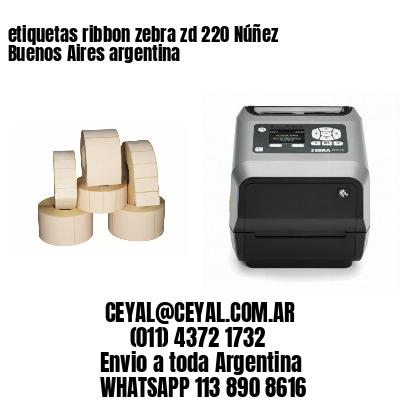 etiquetas ribbon zebra zd 220 Núñez  Buenos Aires argentina