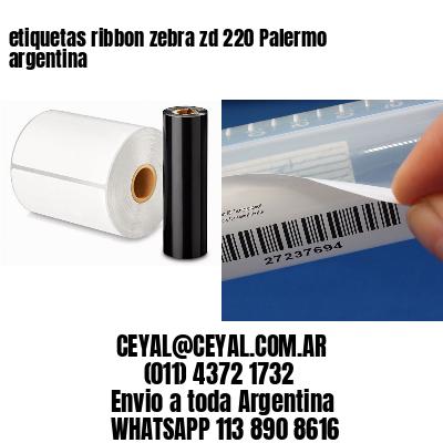 etiquetas ribbon zebra zd 220 Palermo argentina