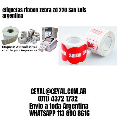 etiquetas ribbon zebra zd 220 San Luis argentina