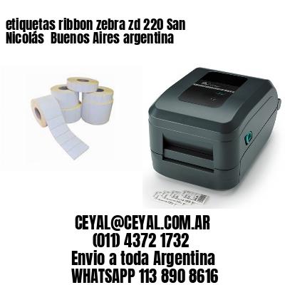 etiquetas ribbon zebra zd 220 San Nicolás  Buenos Aires argentina