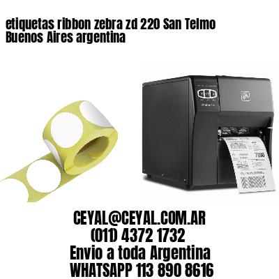 etiquetas ribbon zebra zd 220 San Telmo  Buenos Aires argentina