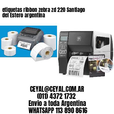 etiquetas ribbon zebra zd 220 Santiago del Estero argentina