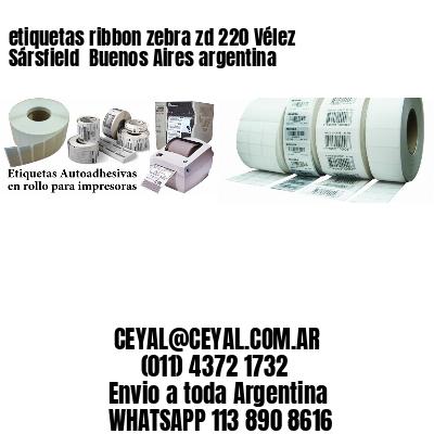 etiquetas ribbon zebra zd 220 Vélez Sársfield  Buenos Aires argentina