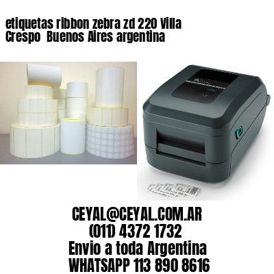 etiquetas ribbon zebra zd 220 Villa Crespo  Buenos Aires argentina