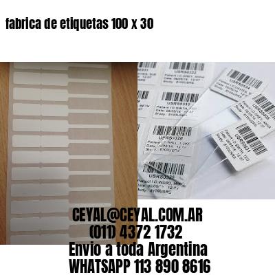 fabrica de etiquetas 100 x 30