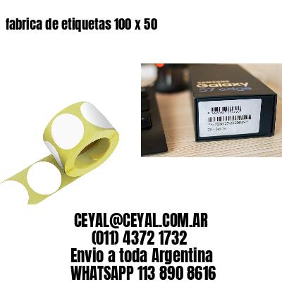 fabrica de etiquetas 100 x 50