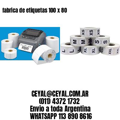 fabrica de etiquetas 100 x 80