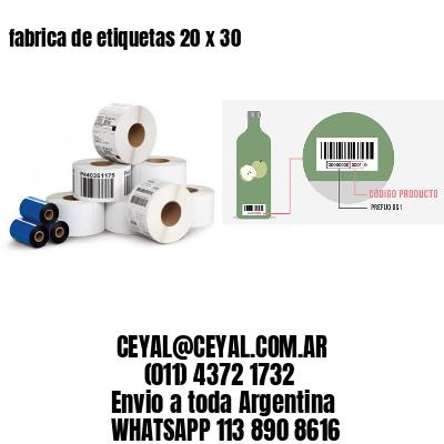fabrica de etiquetas 20 x 30