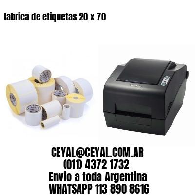 fabrica de etiquetas 20 x 70
