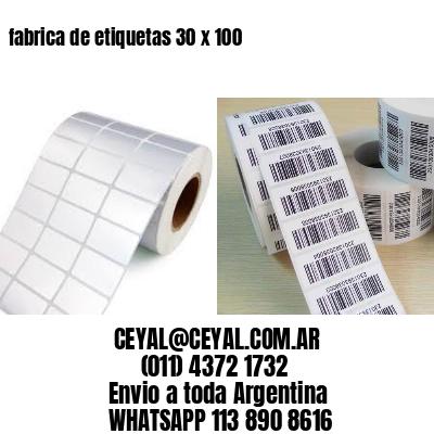 fabrica de etiquetas 30 x 100