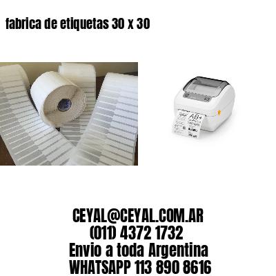 fabrica de etiquetas 30 x 30