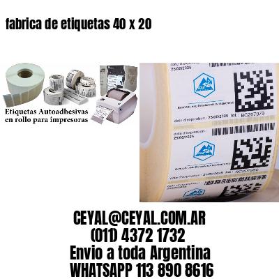 fabrica de etiquetas 40 x 20