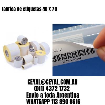 fabrica de etiquetas 40 x 70