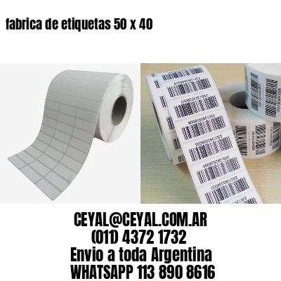 fabrica de etiquetas 50 x 40