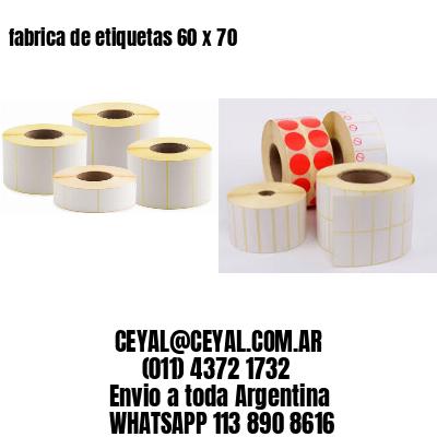 fabrica de etiquetas 60 x 70